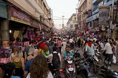 Busy streets of Varanasi