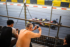 At the Macau Grand Prix