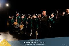 """Accueil et ouverture de la 5ème Convention Internationale de la flûte en présence du Président d'honneur : Maxence LARRIEUAvec Wendell DOBBS et le """"John Marshall Fife and Drum Corps »"""