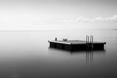 Break on Lake Geneva (julien Mnr) Tags: canon eos 700d suisse switzerland lake geneva break pause lac lman ponton eau water pose longue long exposure black white noir et blanc noirblanc blackwhite blackwhitephotos