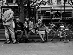 The Women spy (SibretManu) Tags: streetphotography luxembourg portrait street black white bw noir et blanc monochrome candid going moments decisive moment creative commons flickr flickriver explore eyed eye scene strassenfotografie fotografie city square squareformat photography bwartaward