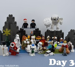May Xmas be with you ! (Alex THELEGOFAN) Tags: lego legography minifigures minifigure minifig minifigs minifigurine minifigurines star wars luke skywalker astromech droid stormtrooper boba fett dark maul wampa yeti monster snowtrooper snow movie man clothes officier imperial admiral akbar c3po santa christmas turkey pretzel food cookie cookies rebel trooper ball snowman tree