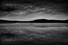 Autumn Dark Mono Series III (Petr Horak) Tags: 2016 clouds family forrest lake lowkey nature sky water woods hrabětice libereckýkraj czechrepublic cze