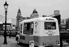 Albert Dock Ice Cream (james-andrewphotography) Tags: white black ice liverpool buildings dock nikon mr albert cream historic queens photograph liver whippy d7000 jamesandrewcouk