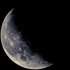 Waning Crescent  01 Jul 2013 (J.C.Chang) Tags: moon astrophotography lunar solarsystem