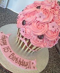 Choc Pink Giant Cupcake