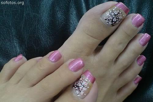 Unhas decoradas pés