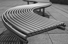 Peckham Bench... (Lady Haddon) Tags: london bench southwark peckham peckhamlibrary se15 2011 steelbench may2011 kimhaddon kimhaddonphotography