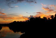 Riverside Sunset., Kerala