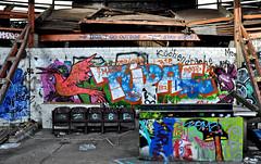 Inside S.O.19 (cmdpirx) Tags: street urban color colour art public wall writing painting graffiti mural paint artist decay space raum wand character kunst strasse tag hamburg can spray ruine crew hh writer hiphop hip hop piece aerosol bombing legal oper schiller sternschanze schanze wildstyle knstler fatcap schilleroper ffentlicher