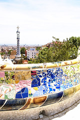 Parc Guell balcony (iciclemelts) Tags: barcelona park españa art architecture landscape spain mosaic gaudi parcguell trencadis