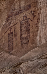 Snake in the Mouth Man (maryannenelson) Tags: southwest art utah ancient moab snakes rockart pictographs