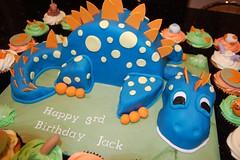 Dino Cake (Victorious_Sponge) Tags: birthday blue boys cake cupcakes dragon dino dinosaur spotty