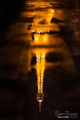 REFLECTION OF THE EIFFEL TOWER PARIS