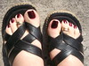 DSCF2239 (sandalman444) Tags: color male feet long sandals nail pedicure care toenails pedicured toerings mensfeet