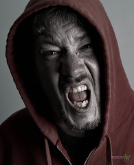 Rage, Just a Little Bit (Rock Steady Images) Tags: camera family red people ontario canada man me canon eos goatee hoodie tripod places rage equipment cameras 7d processing desaturated 50views lenses topaz alliston 25views niksoftware jimchambers bypaulchambers speedlite430exii canon430exii canonef2470mmf28iiusm lightroom4 photoshopcs6 rocksteadyimages westcott43inorb gingtushutterrelease imagestopaztripodwestcott