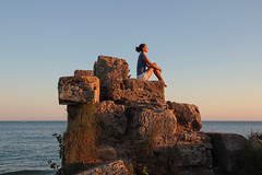 Side - top of the ancient wall on the beach 38 (Romeodesign) Tags: sunset sea sky woman sun holiday beach nature girl beautiful beauty silhouette sport rock yoga wall female strand training turkey pose outdoors evening coast living concentration healthy energy mediterranean riviera sitting slim exercise body top feminine side urlaub trkiye young free lifestyle trkei antalya health gymnastics sit balance recreation meditation practice relaxation shape fitness peninsula chill stretching turkish wellness chillout flexible workingout gymnastik gleichgewicht 550d pamphylian