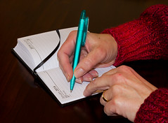 Happy New Year (Mukumbura) Tags: pen paper creativity book remember order diary fingers planning memo marker date weddingring reminder grip happynewyear ballpoint organisation 2014 womanshands