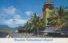 Old Terminal HNL Airport c1952 (Kamaaina56) Tags: 1950s airport honolulu hawaii postcard restaurant skyroom spencecliff