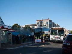 Google Bus vs. MUNI (cjmartin) Tags: sanfrancisco california unitedstates protest muni googlebus gbus gbustomountainview