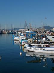 P1090373 (ezioman) Tags: sardegna italy water port boats boat dock sardinia fishingboats alghero
