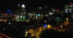 downtown Austin night (SteveMather) Tags: night austin landscape hotel downtown cityscape texas view tx aerial elevated 2011 stephenrmather
