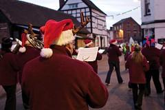 Hark now hear the angels sing (Kyre Wood) Tags: santa christmas town band wells parade tenbury