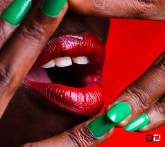 Announcing Christmas (DextDee) Tags: christmas red green colors studio teeth lips ghana accra strobist strobing dextdee