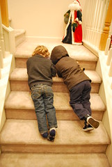 364 of 365 - Stairs ([ the black star ]) Tags: friends playing boys kids stairs toddler things kingston stuff newyeareve shrug dominic preschooler 364365 theblackstar threehundredsixtyfour