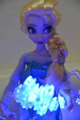 Elsa OOAK doll ~Snow Crystal LED 002~ (Kitten_Blue_777) Tags: anna snow frozen doll princess ooak disney queen   custom  elsa