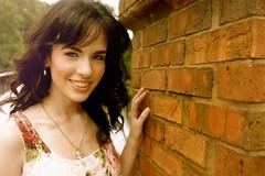 Just Around the Corner (alyssaduet) Tags: pink brick wall corner hair hard curly together elegant