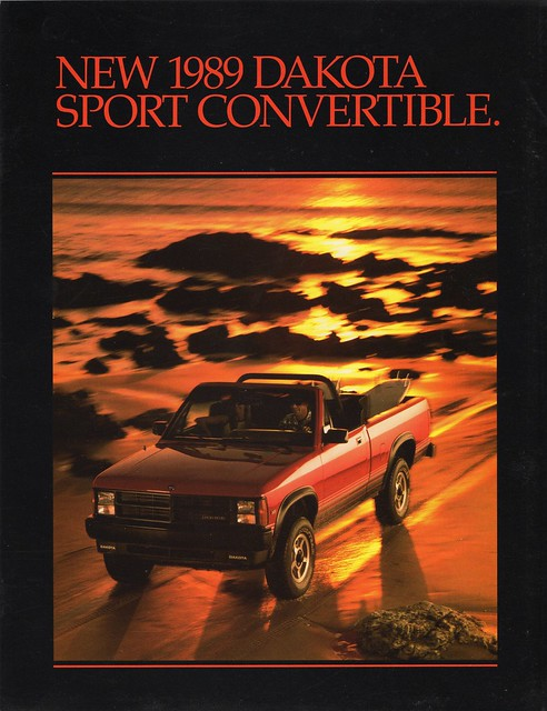 sport convertible dodge 1989 brochure dakota