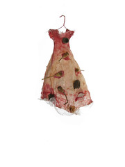 Wildes Kleid - Wild Dress N277 (Beatrice Oettinger) Tags: sculpture berlin nature natur organic fiberartist textilkunst
