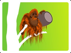 tree art beer illustration orangutan ape illustrator keg computergraphic
