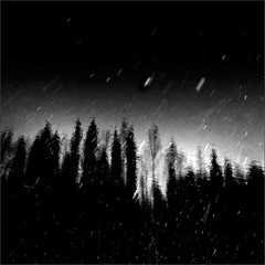 Part of the Story (Olli Keklinen) Tags: winter bw reflection water forest photoshop suomi finland dark square woods nikon snowfall universe kuopio 2014 ok6 d700 ollik joutenlampi joutenjrvi 2014013 work3657