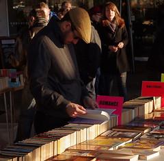 A London Romance Story K5__0494 (Mike07922, 2.9 Million+ Views - thanks guys) Tags: winter urban sun london afternoon pentax citylife streetlife books streetscene southbank k5 secondhandbooks