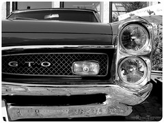 GTO (VintageReflection) Tags: bw berlin classic car germany deutschland lumix fz20 september panasonic oldtimer gto 2007 lostillusion75 retrotwin