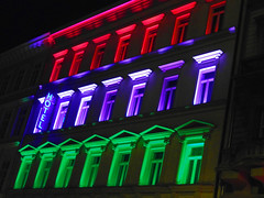 Late check-in (Fins from Budapest) Tags: city red green colors night lights hotel check colorful hungary purple basilica budapest grand center vividstriking vision:text=0542 vision:flower=0772 vision:plant=0645 vision:dark=0887