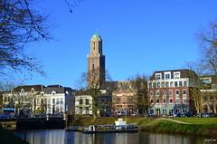 Zwolle the view of Peperbus (JaapCom) Tags: bridge holland water boot boat town nikon toren historical brug stad zwolle overijssel niederlande gracht historisch brugje hanze hanzestad peperbus historiek stadswall d5100 jaapcom zwollefeb2014