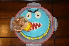 Barbie Cake for Boys (Out.of.Focus) Tags: cake funny doll eating barbie