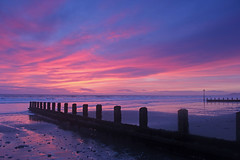 It rained all day... (John Ibbotson (catching up!)) Tags: sunset sea sun wales coast seaside ceredigion borth