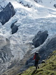Wandering towards the Jurau glaciers.