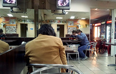 = (irinayourova) Tags: people food woman art station cafe waiting interior spin freeze moment portret