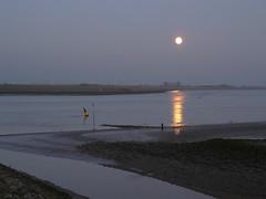 Wasser water eau aqua (achatphoenix) Tags: wasser water eau aqua moon mond ems riverems lune ostfriesland eastfrisia rheiderland