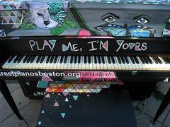 Street Piano, Boston MA (Boston Runner) Tags: streetpiano art mavericksquare eastboston massachusetts playme imyours public
