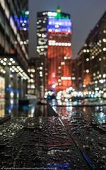 Park Avenue Droplets (DSC04110) (Michael.Lee.Pics.NYC) Tags: newyork parkavenue helmsleybuilding metlifebuilding night rain water droplets reflection bokeh lights cityscape architecture sony a7rm2 zeissloxia21mmf28
