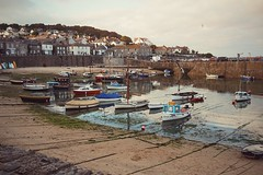 """""""The loveliest village in England"""" - Ray Kerens and Dylan Thomas (TomLeong100) Tags: mousehold cornwall penzance boats beach harbour"""
