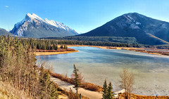 Vermillion lakes, Banff National park, Alberta, Canada - ICE(5)1412-20 (photos by Bob V) Tags: mountains rockies rockymountains canadianrockies alberta albertacanada banff banffpark banffnationalpark banffalberta banffalbertacanada panorama mountainpanorama vermillionlakes mountrundle sulphurmountain