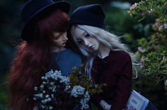 hugs in the garden I (AzureFantoccini) Tags: bjd granado ozin5 emon supia jiin hugs garden flowers girls summer couple