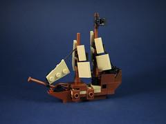 Sea monster attack-5 (LEGO 7) Tags: sea monster attack ship lego